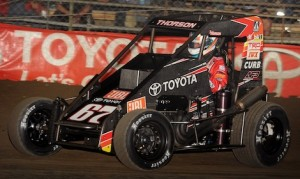 Tanner Thorson won the Race of Champions Tuesday night at the Chili Bowl Nationals. (Frank Smith photo)