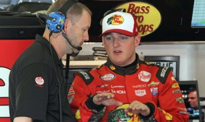 Ty Dillon, right, will drive Tony Stewart's No. 14 on Sunday at Atlanta. (HHP Photo/Alan Marler)