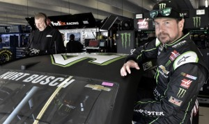 Kurt Busch inherited the pole for Sunday's Folds of Honor QuikTrip 500 at Atlanta Motor Speedway when his younger brother Kyle Busch's car failed post-qualifying inspection. (HHP/Rusty Jarrett Photo)