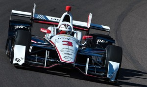 Helio Castroneves led the way during testing at Phoenix Int'l Raceway. (IndyCar Photo)