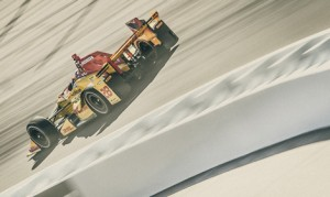 Ryan Hunter-Reay on track during Verizon IndyCar Series testing at Phoenix Int'l Raceway. (IndyCar Photo)