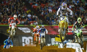 The Whoops are some of the most challenging parts of any Monster Energy AMA Supercross track. (Simon Cudby Photo)