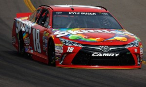 Kyle Busch sped to the pole on Friday at Phoenix. (NASCAR photo)