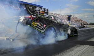 Alexis DeJoria reset both ends of the zMAX Dragway track record during qualifying on Saturday. (NHRA Photo)