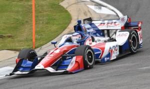 Takuma Sato led an A.J. Foyt Racing 1-2 during Verizon IndyCar Series practice on Friday at Barber Motorsports Park. (Al Steinberg Photo)