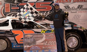Cory Hedgecock earned his first NeSmith Chevrolet Dirt Late Model Series victory Friday night at I-75 Raceway. (Bruce Carroll Photo)