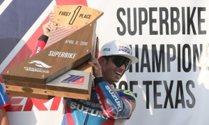 Toni Elias made his MotoAmerica debut in style on Saturday, winning the Superbike feature at Circuit of the Americas. (Brian J. Nelson Photo)