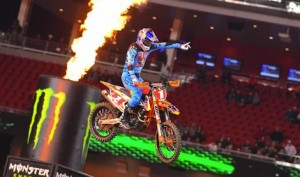 Ryan Dungey won his sixth Monster Energy AMA Supercross race of the season Saturday at Levi's Stadium in Santa Clara, Calif. (Simon Cudby photo)