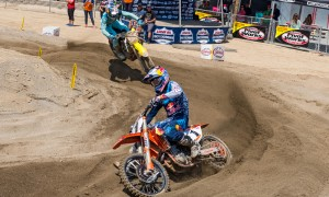 Ryan Dungey and Ken Roczen, seen here last weekend at Glen Helen Raceway, lead the 450MX Class into this weekend's third round of the Pro Motocross Championship. (Rob Hargraves photo)