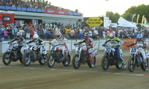The stars of the AMA Pro Flat Track Series are heading to the Sacramento Mile this weekend. (AMA Pro Racing/Dave Hoenig Photo)