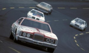 David Pearson (21) led 230 of 400 laps in the 1976 Coca-Cola 600, and sped to the victory over fellow NASCAR Hall of Fame inductee Richard Petty. (CMS Archives Photo)
