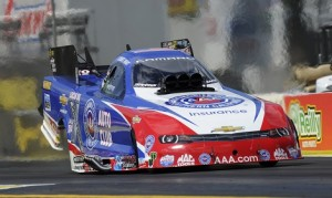 Robert Hight, who won earlier in the season at Gainesville Raceway (pictured), is looking for another NHRA win on Sunday at Bristol Dragway. (NHRA photo)