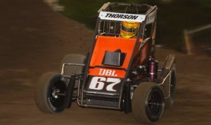 Tanner Thorson won Friday night's USAC midget feature at Riverside Int'l Speedway. (Rich Forman photo)