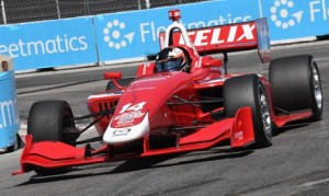 Felix Rosenqvist completed a weekend sweep in Indy Lights competition on Sunday at Exhibition Place in Toronto. (Al Steinberg Photo)