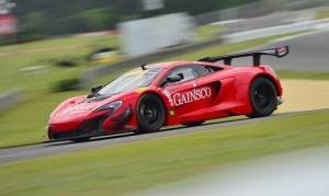 Jon Fogarty on track at Barber Motorsports Park earlier this year in the GAINSCO McLaren.