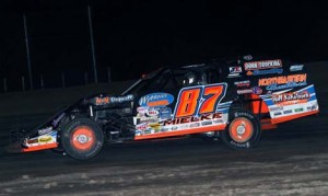 David Mielke earned his first DIRTcar Summit Racing Equipment Modified Nationals feature victory of the year at Merritt Speedway on Thursday night. (Jim DenHamer Photo)