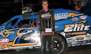 Nick Hoffman clinched the DIRTcar Summit Modified Nationals championship Saturday night at Fairbury American Legion Speedway. (Jim DenHamer Photo)