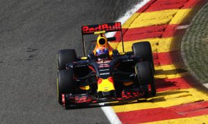 Max Verstappen led the opening day of Formula One practice at Circuit de Spa-Francorchamps in Belgium. (Red Bull Photo)