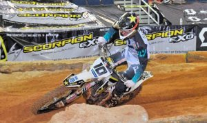 Colton Haaker rode a solid main event to take the opening round of the AMA EnduroCross Championship. (Larry Mayo Photo)