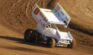 Bud Kaeding won Saturday's King of the West Sprint Car Series event at Placerville Speedway. (Joe Shivak Photo)