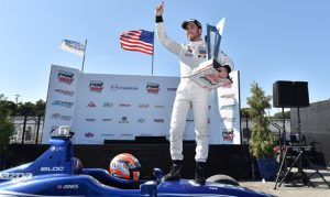 Ed Jones captured the Indy Lights championship in Sunday's season finale at Mazda Raceway Laguna Seca. (Indy Lights Photo)