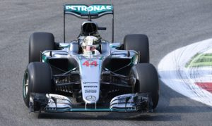 Lewis Hamilton was fastest during Italian Grand Prix practice on Friday afternoon. (Mercedes Photo)