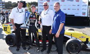 Aaron Telitz captured the Pro Mazda Championship with a victory in the season finale on Sunday at Mazda Raceway Laguna Seca. (Pro Mazda Photo)