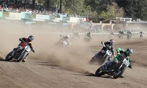 Bryan Smith (42) captured his first AMA Pro Flat Track championship Sunday in Santa Rosa, Calif. (Brian J. Nelson Photo)