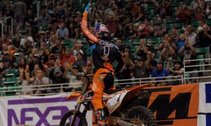 Cody Webb earned his first AMA EnduroCross Championship victory of the year on Saturday in Salt Lake City, Utah. (Ian Reid Photo)