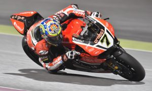 Chaz Davies was fastest on the opening day for World Superbike in Qatar on Friday. (Ducati Photo)