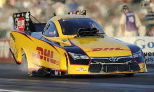 Defending NHRA Funny Car champion Del Worsham won't win the championship this year, but he is still hoping to end the season on a positive note. (NHRA Photo)