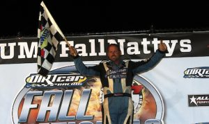 Mike Harrison was one of four drivers to win a DIRTcar modified feature Friday at Eldora Speedway. (Jim Denhamer photo)