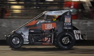 Tanner Thorson won his second consecutive Gold Crown Nationals Saturday at Tri-City Speedway. (Don Figler photo)