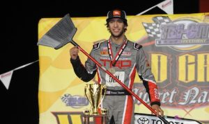 Tanner Thorson swept all three features during this weekend's Gold Crown Midget Nationals. (Don Figler photo)