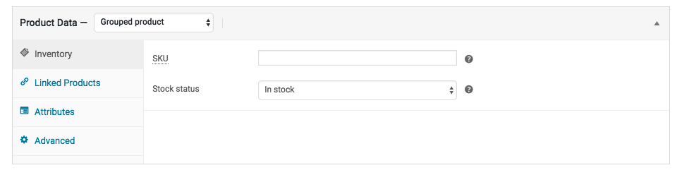 To create your parent product select 'Grouped' from the Product Type Dropdown.