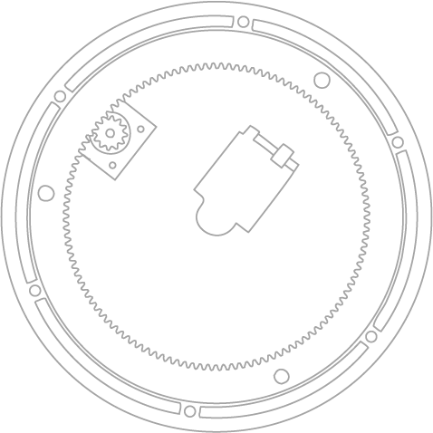 Turntable top outline