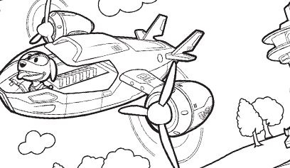 Air Patroller Coloring Sheet