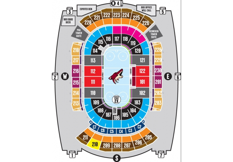 phoenix coyotes arena map Arizona Coyotes Powered By Spinzo phoenix coyotes arena map