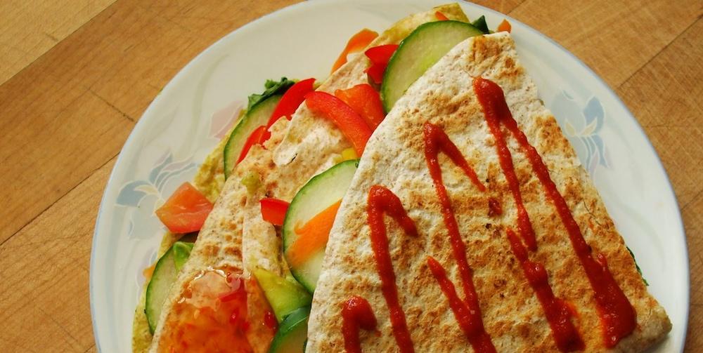 Quesadilla Twist: Spinach + Avocado