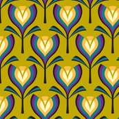 Deco tulips - mustard and gold