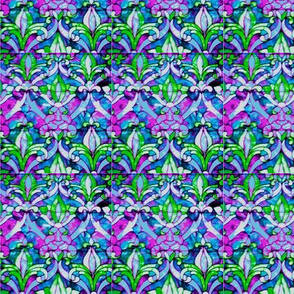 Stained Glass Purple-Fleur de Lys