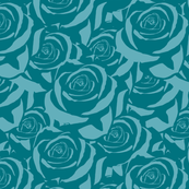 Blue Cabbage Roses