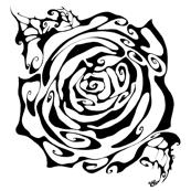 Inkblot Rose