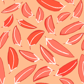 Wind Blown Leaves in Red