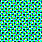 CMYK halftone dots - teal