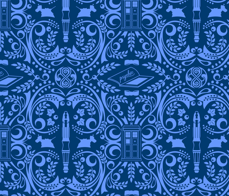 The Doctor's favorite things - brighter fabric by kdowning on Spoonflower - custom fabric