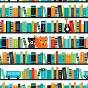 Boys ABC fox book shelf pattern