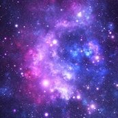 Purple Space Stars (small print)