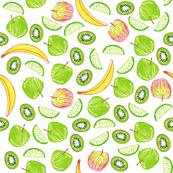 Kiwi, Apple, Lime and Banana
