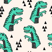 dinosaurs // green t-rex trex tyrannosaurus rex prehistoric kids boys